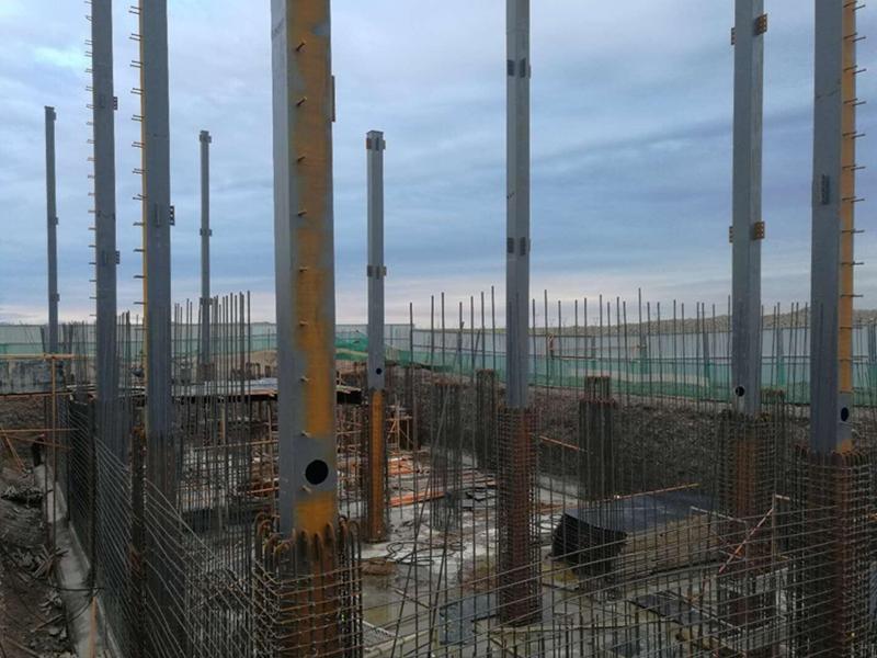 已建——圆梦园小区安装施工现场